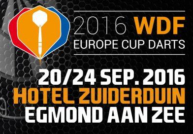 De loting voor WDF Europe Cup Darts 2016 bekend